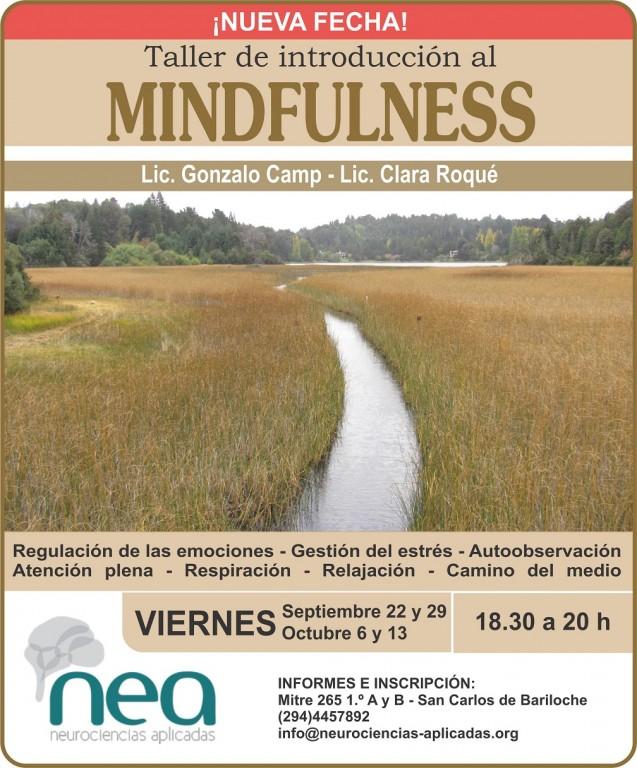 Seguimos inscribiendo para el taller de mindfulness. Vacantes limitadas.